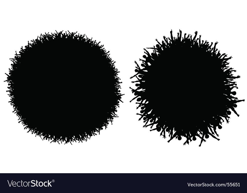 Circular crowds vector image