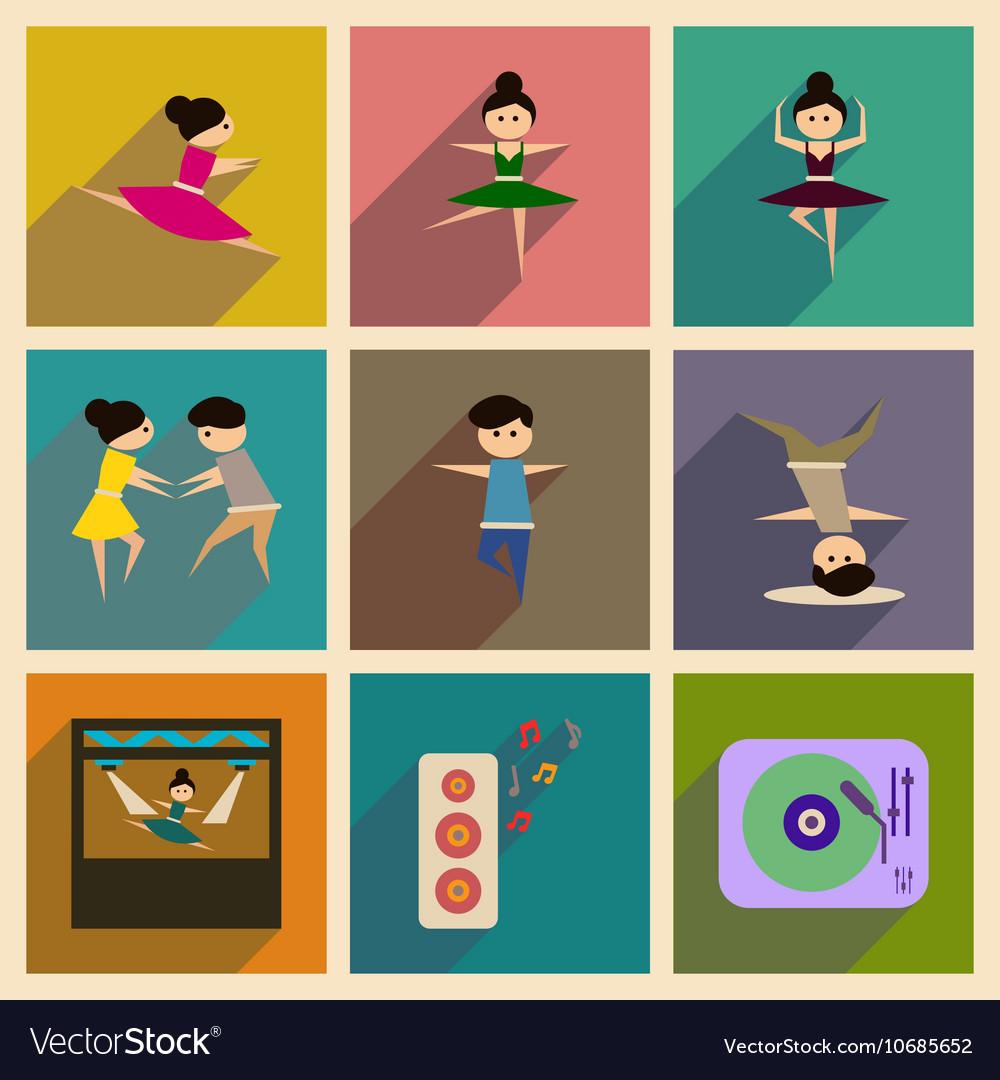 Ballerina flat icon