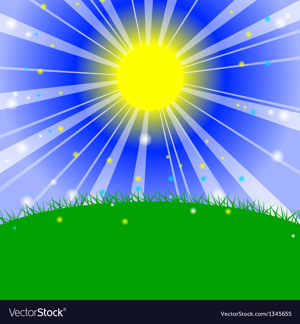 - Morning in the meadow vector image