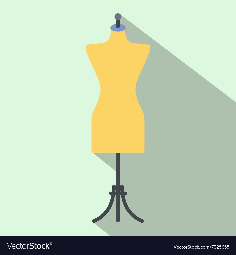 Dressmaker model flat icon vector image