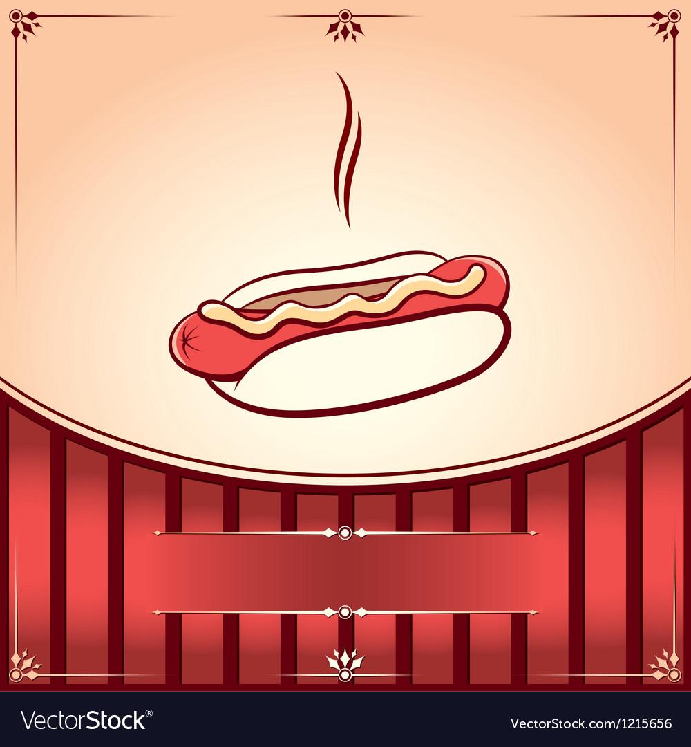 Fast Food Hot dog Vector Image