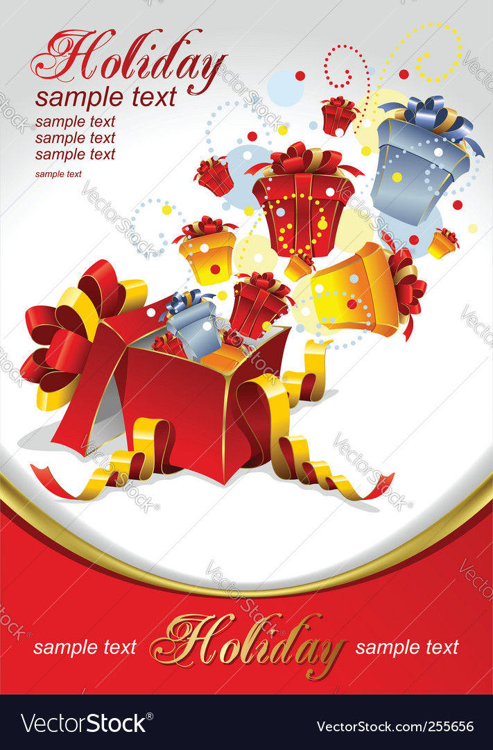 Gifts for holidays vector image