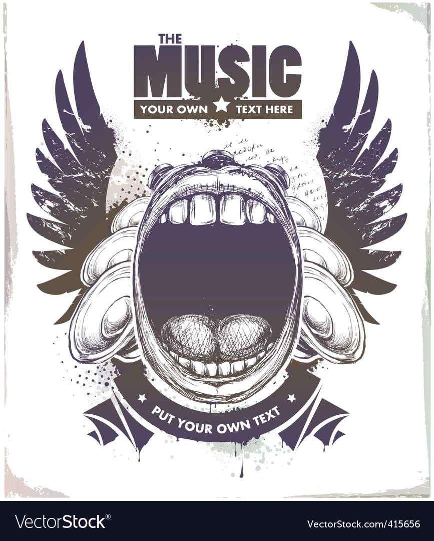 Sketchy style musical poster vector image