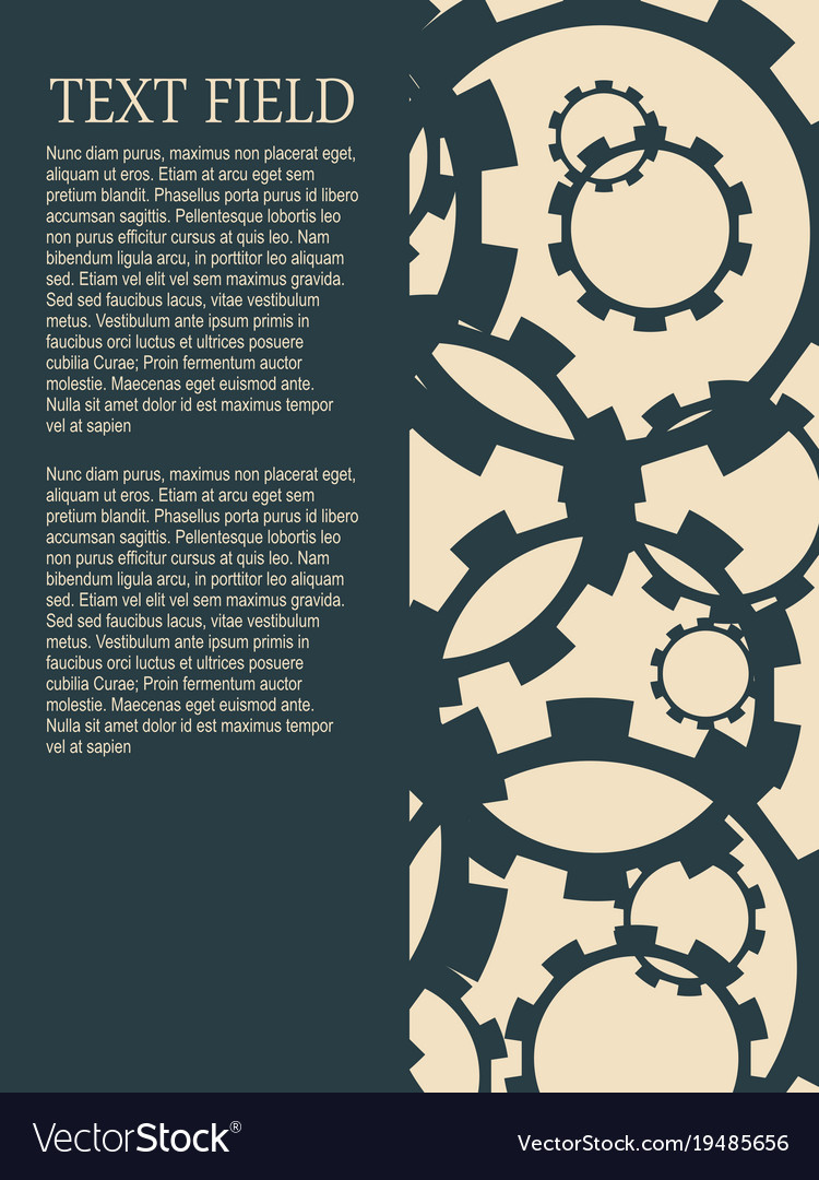 Brochure template with gears vector image