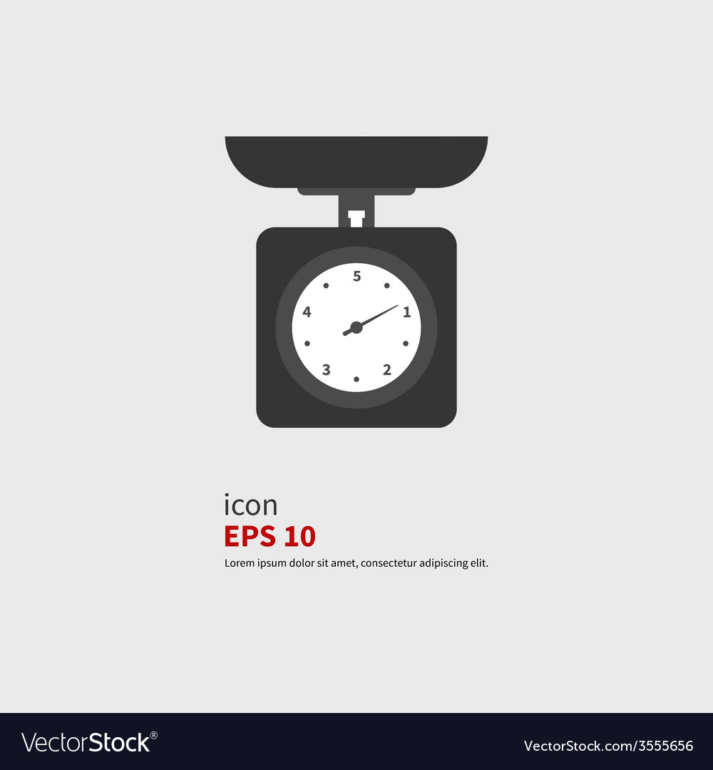 Icon scale vector image