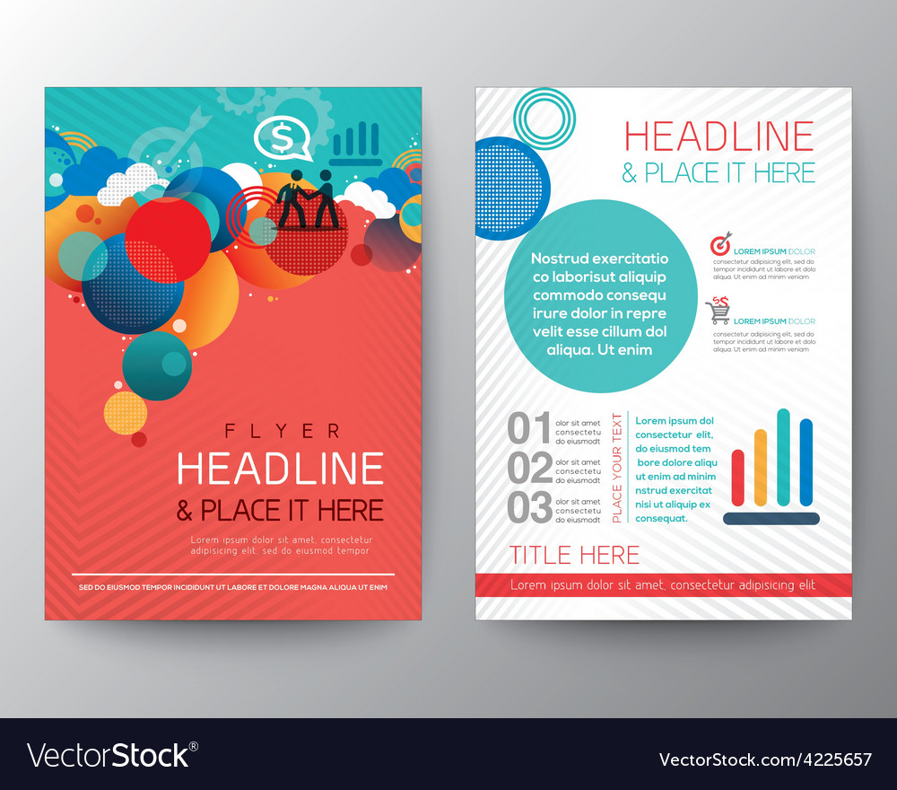 Abstract Circle Design Brochure Flyer Layout Vector Image - Brochure flyer templates