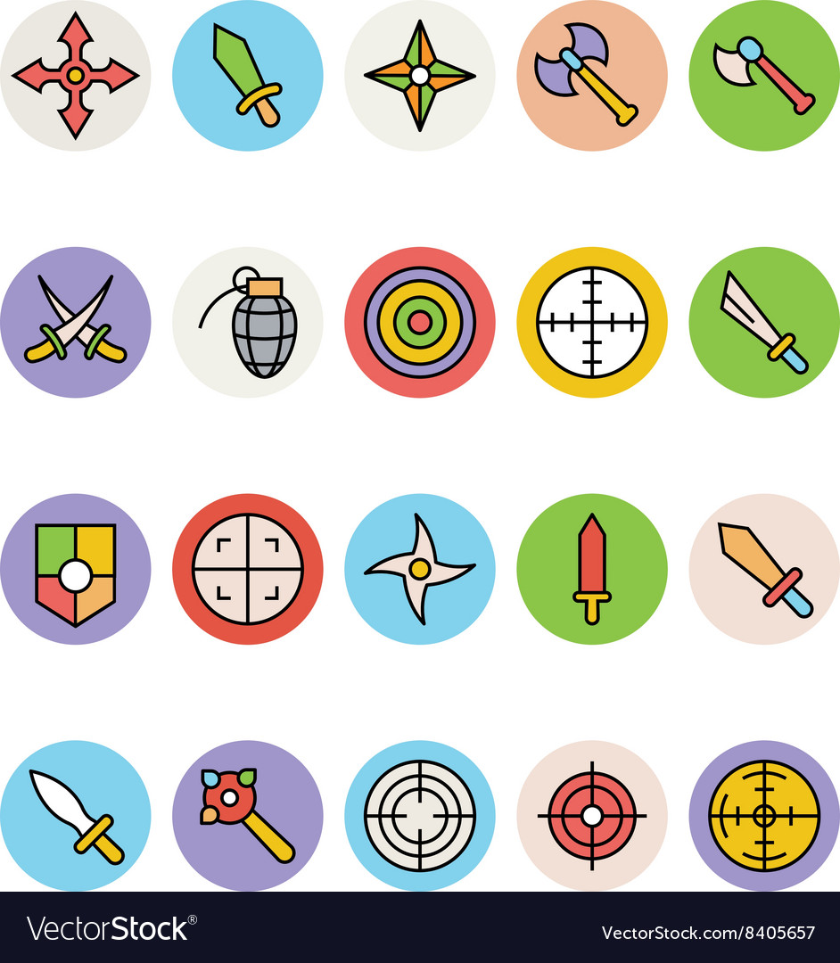 Weapons Icons 1 vector image