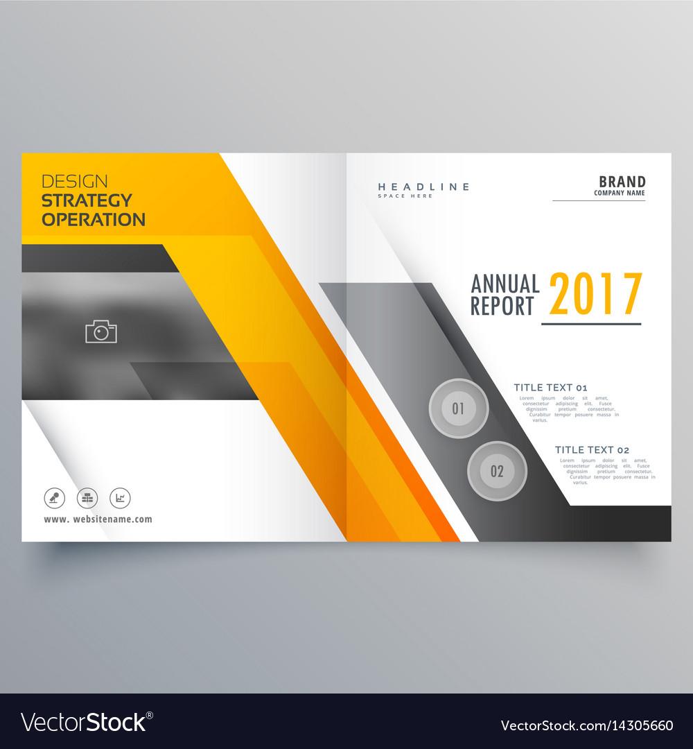 Stylish bifold booklet template design cover page vector image