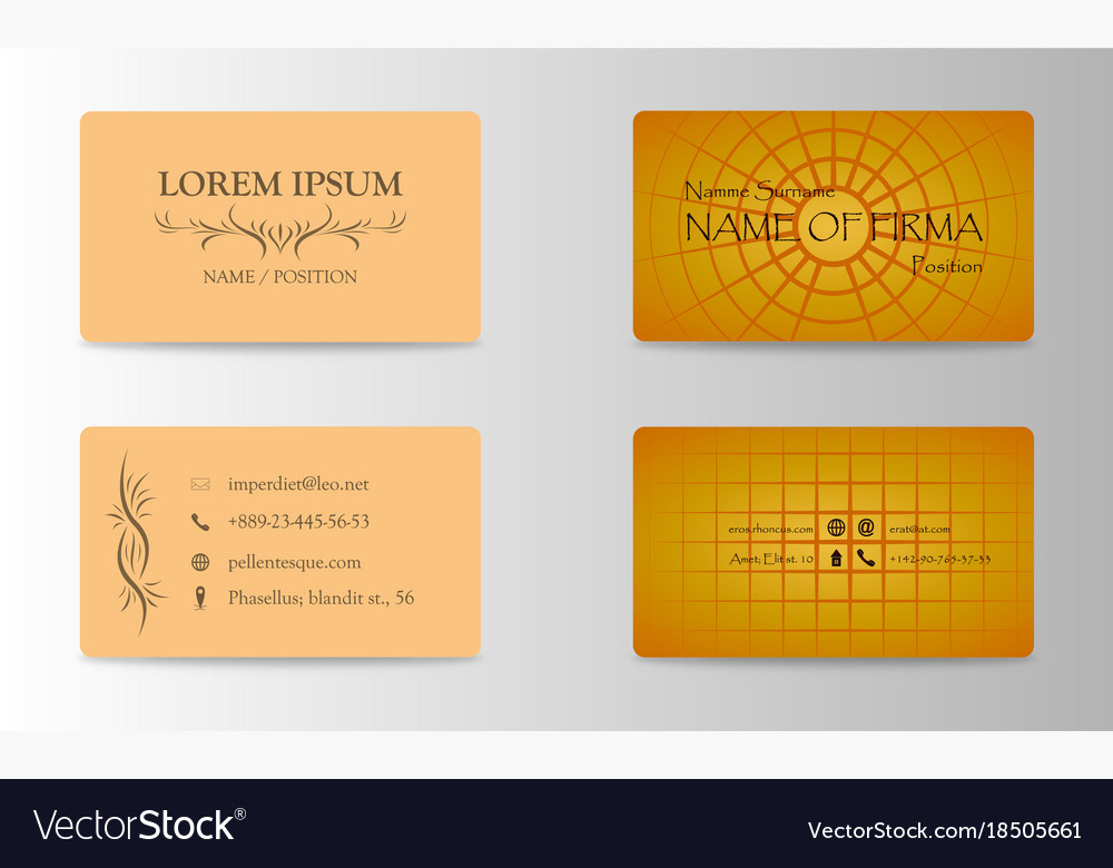 Eps10 abstract elegant business cards templates Vector Image