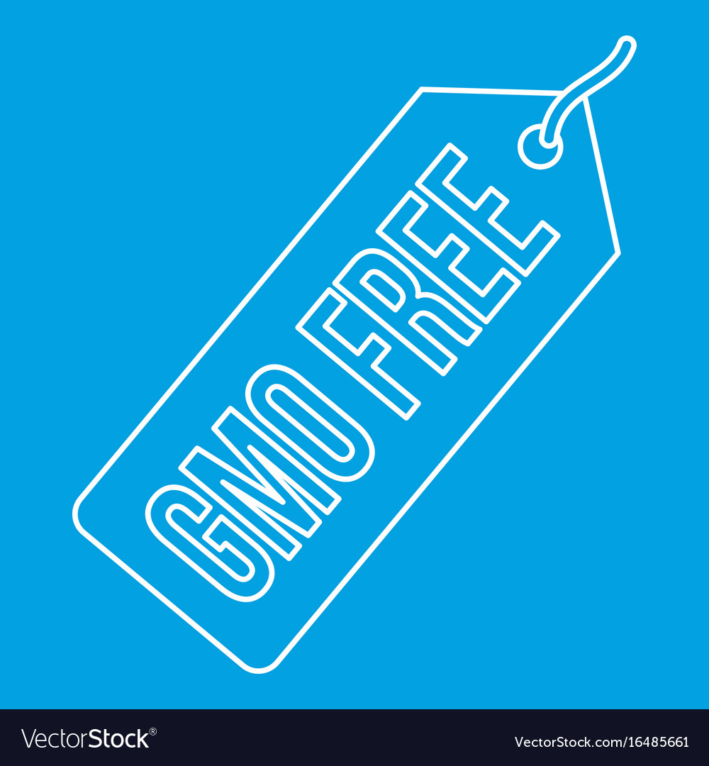 Gmo free label icon outline style vector image