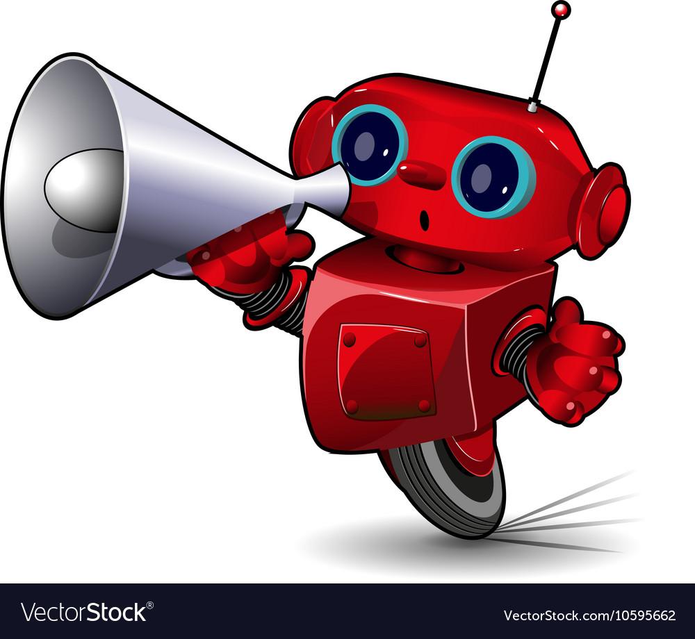 Robot with Megaphone vector image
