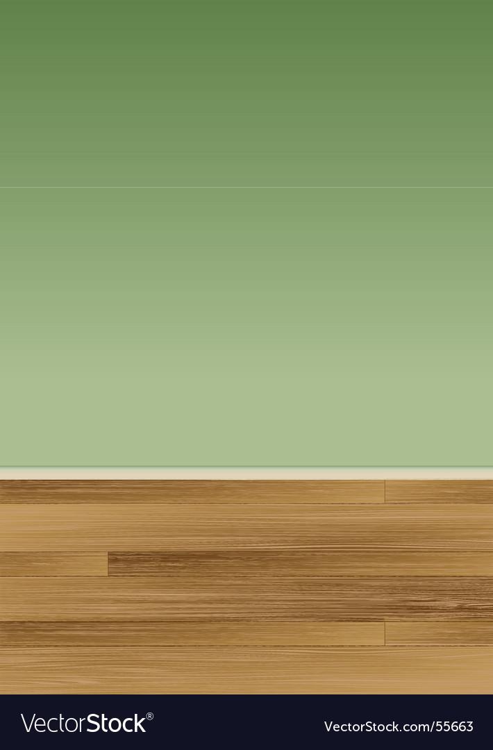 Wood floor wall vector image