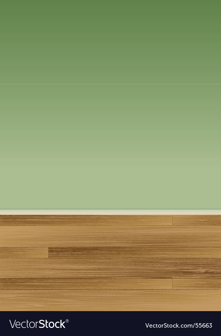Wood floor wall vector image
