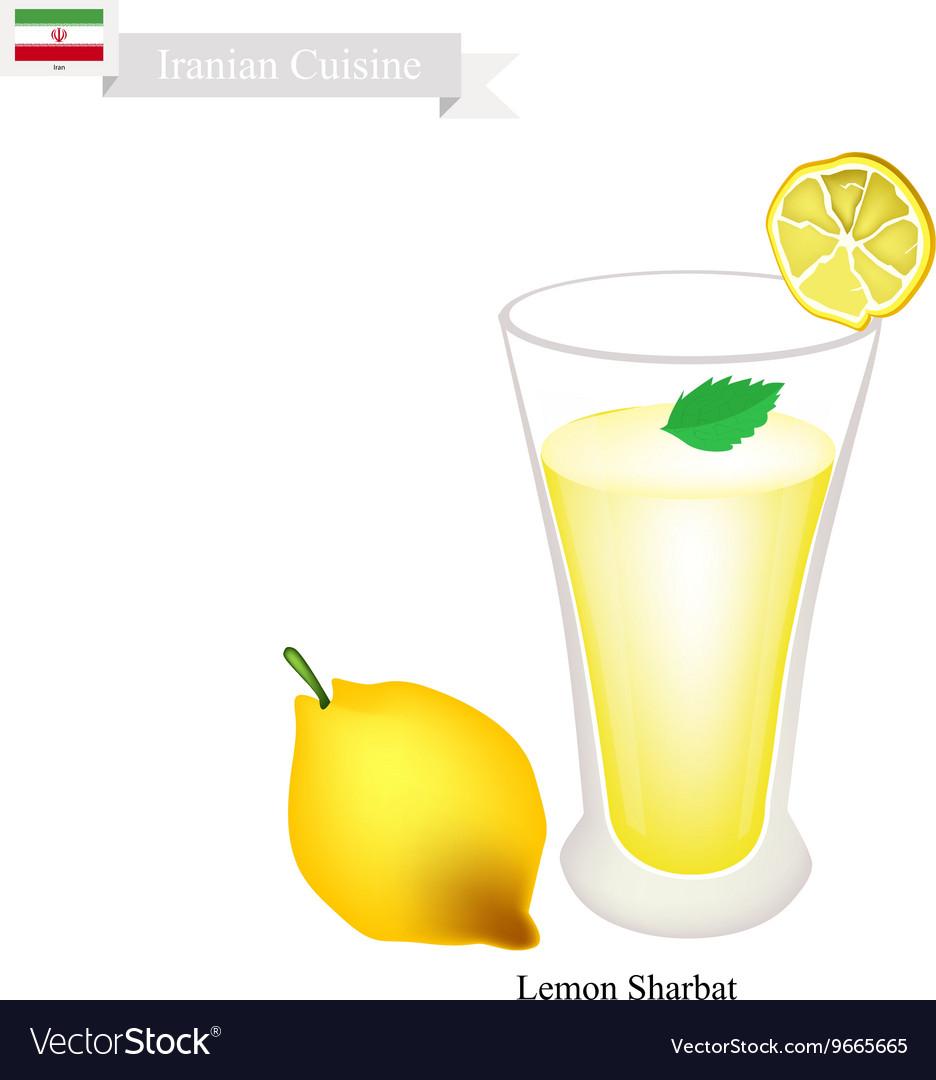 Lemon Sharbat or Iranian Drink From Lemon vector image