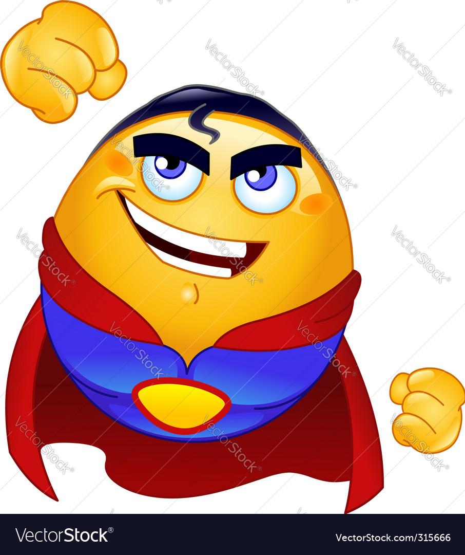 Super hero emoticon Vector Image