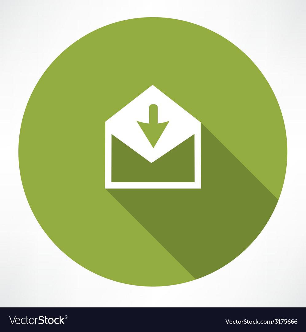 Arrow with envelope vector image