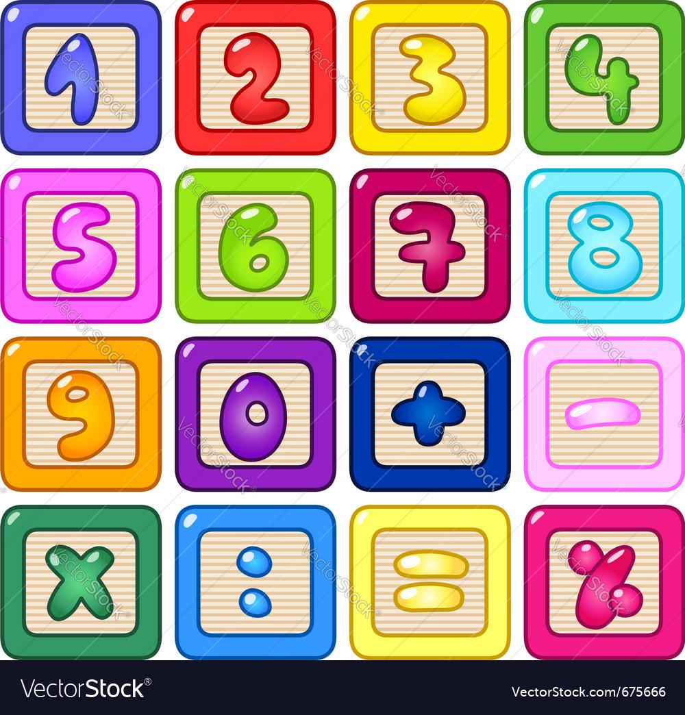 Number blocks vector image