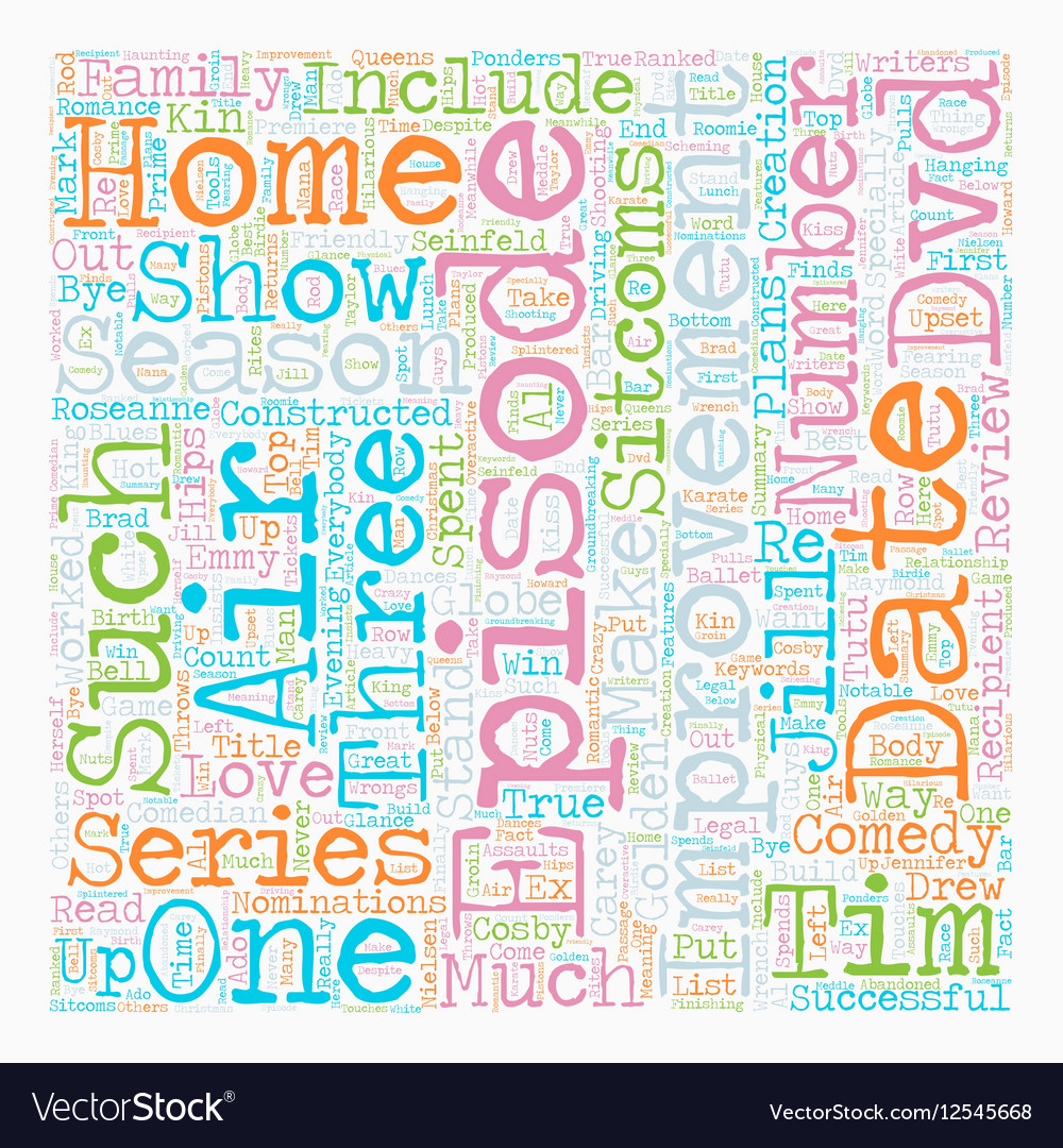 Home Improvement Season DVD Review text background vector image