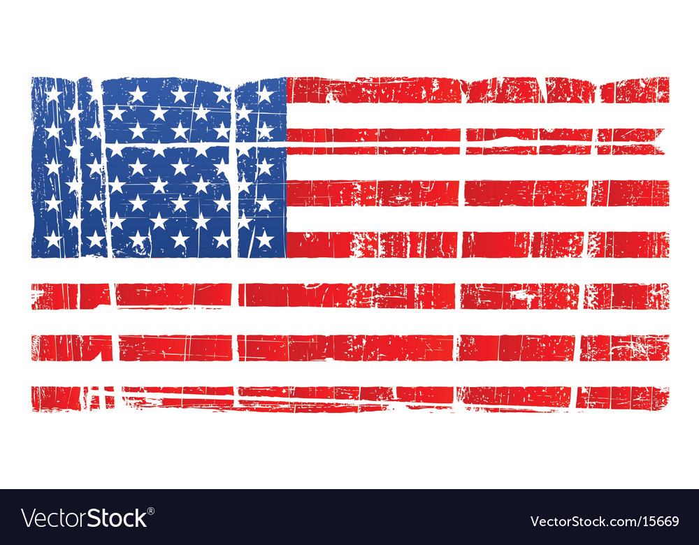 Distressed american national flag vector image