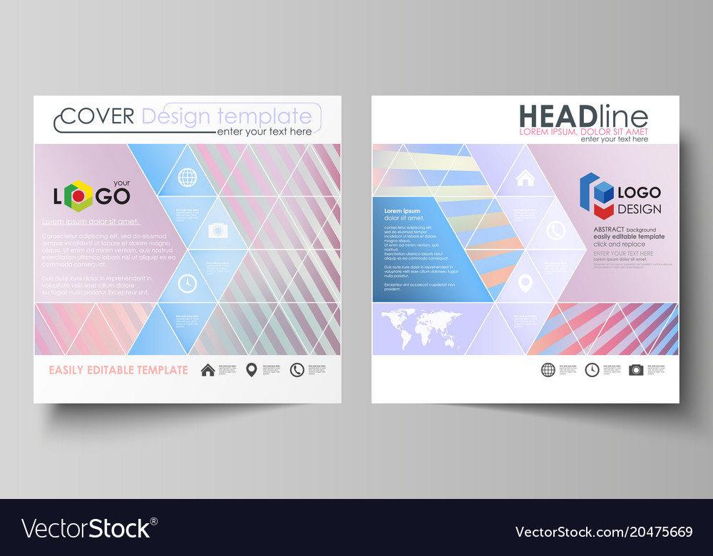 Business templates for square brochure magazine vector image accmission Choice Image