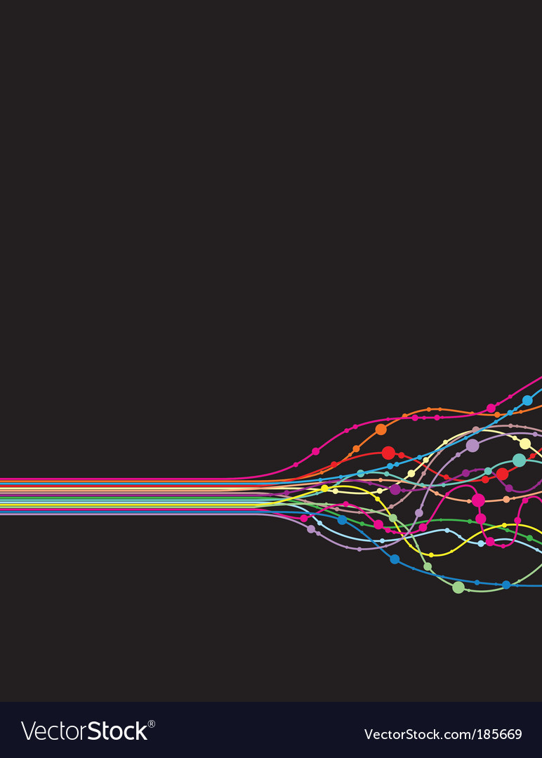 Line twist vector image