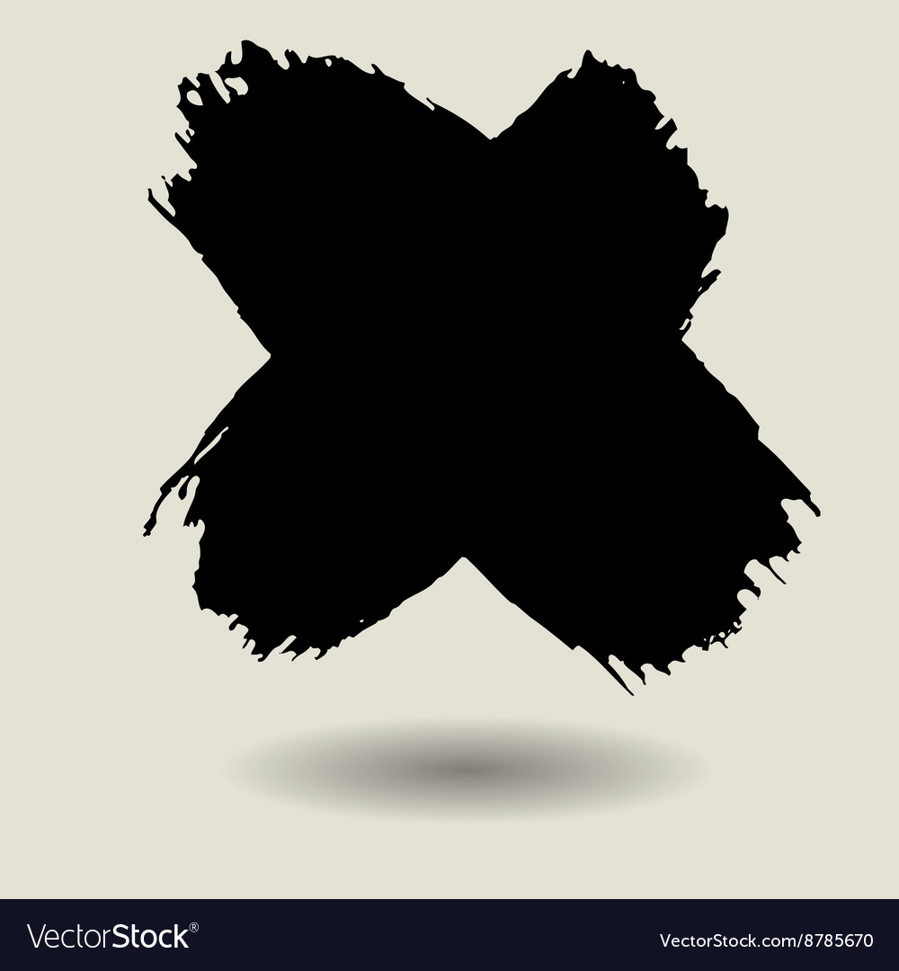 Cross brush texture background vector image
