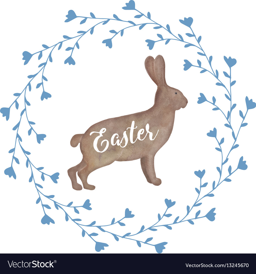 Cute easter greeting card invitation with vector image