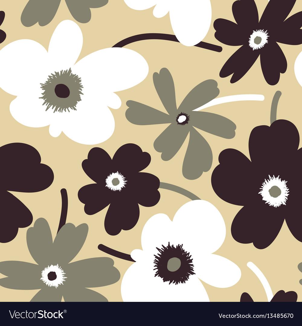 Elegant floral seamless pattern vector image