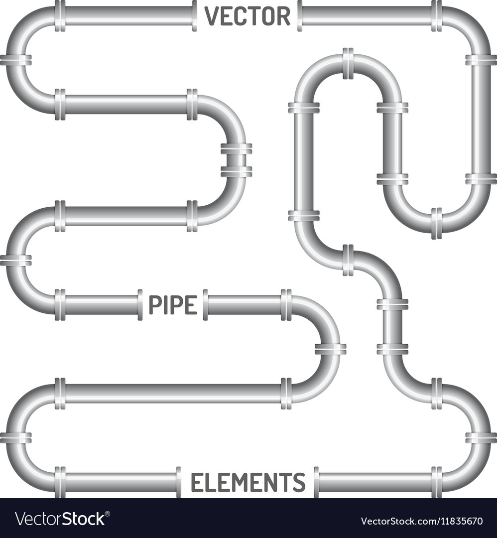 Pipe isolated on the white background vector image