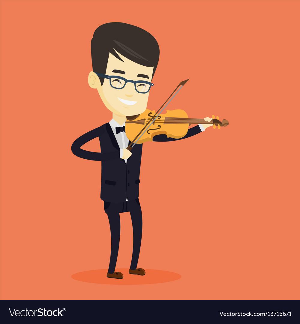 Man playing violin vector image