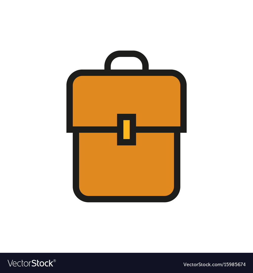 Backpack book bag icon on white background vector image