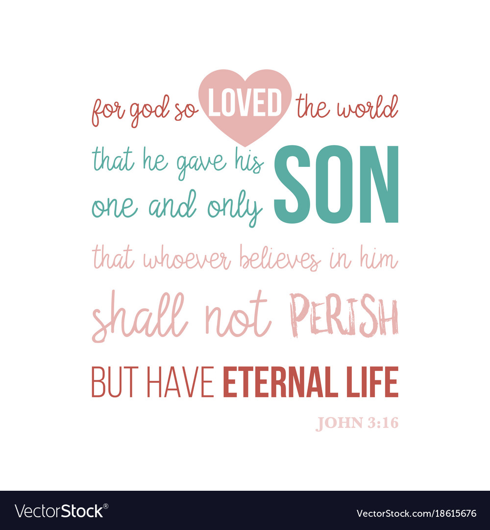 Bible quote typographic for printing t-shirt vector image