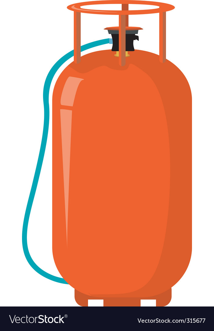 Gas cylinder Royalty Free Vector Image - VectorStock