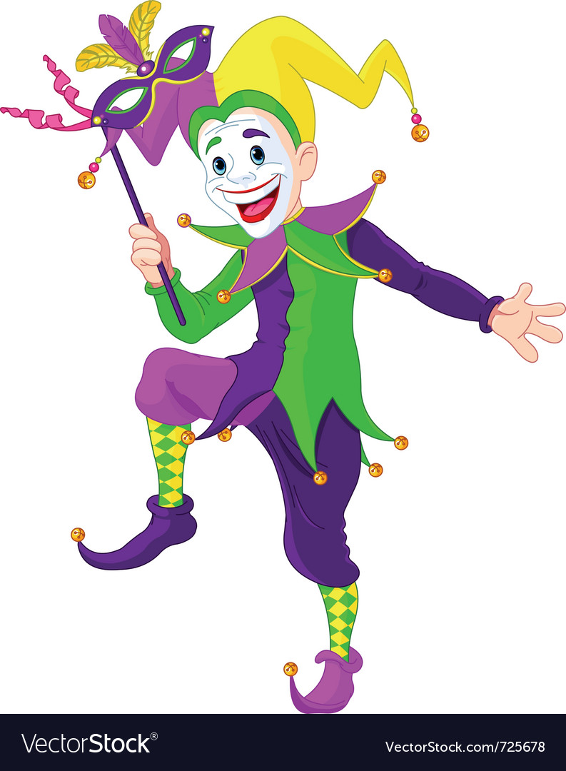 Cartoon jester vector image