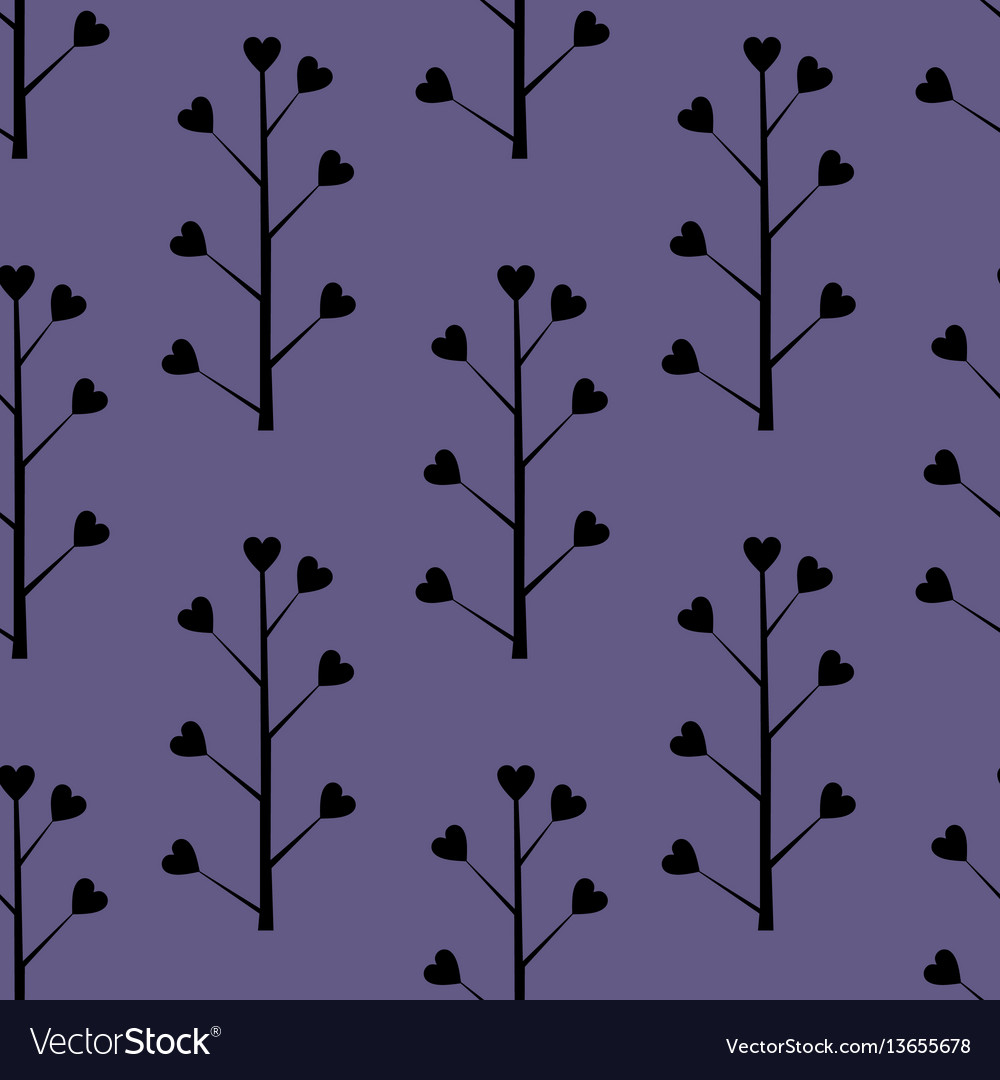 Decorative seamless background with floral vector image