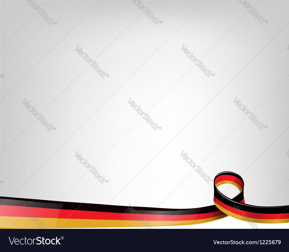 Background with germany flag vector image