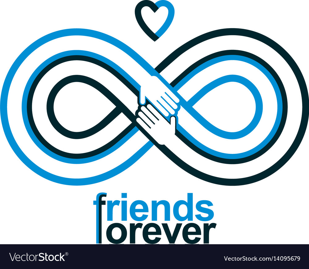 Friends forever everlasting friendship conceptual vector image