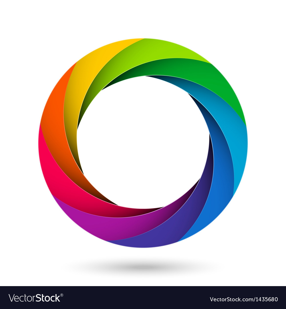 Colorful camera shutter aperture vector image
