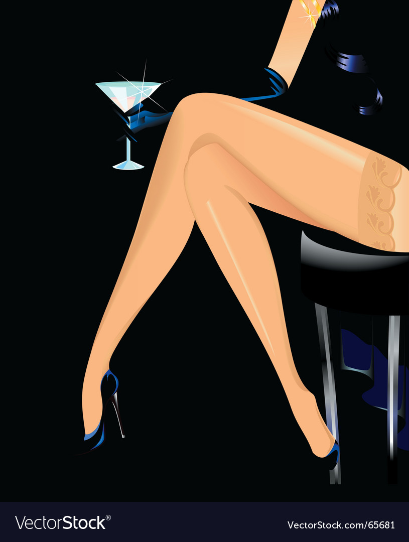 Woman's legs vector image