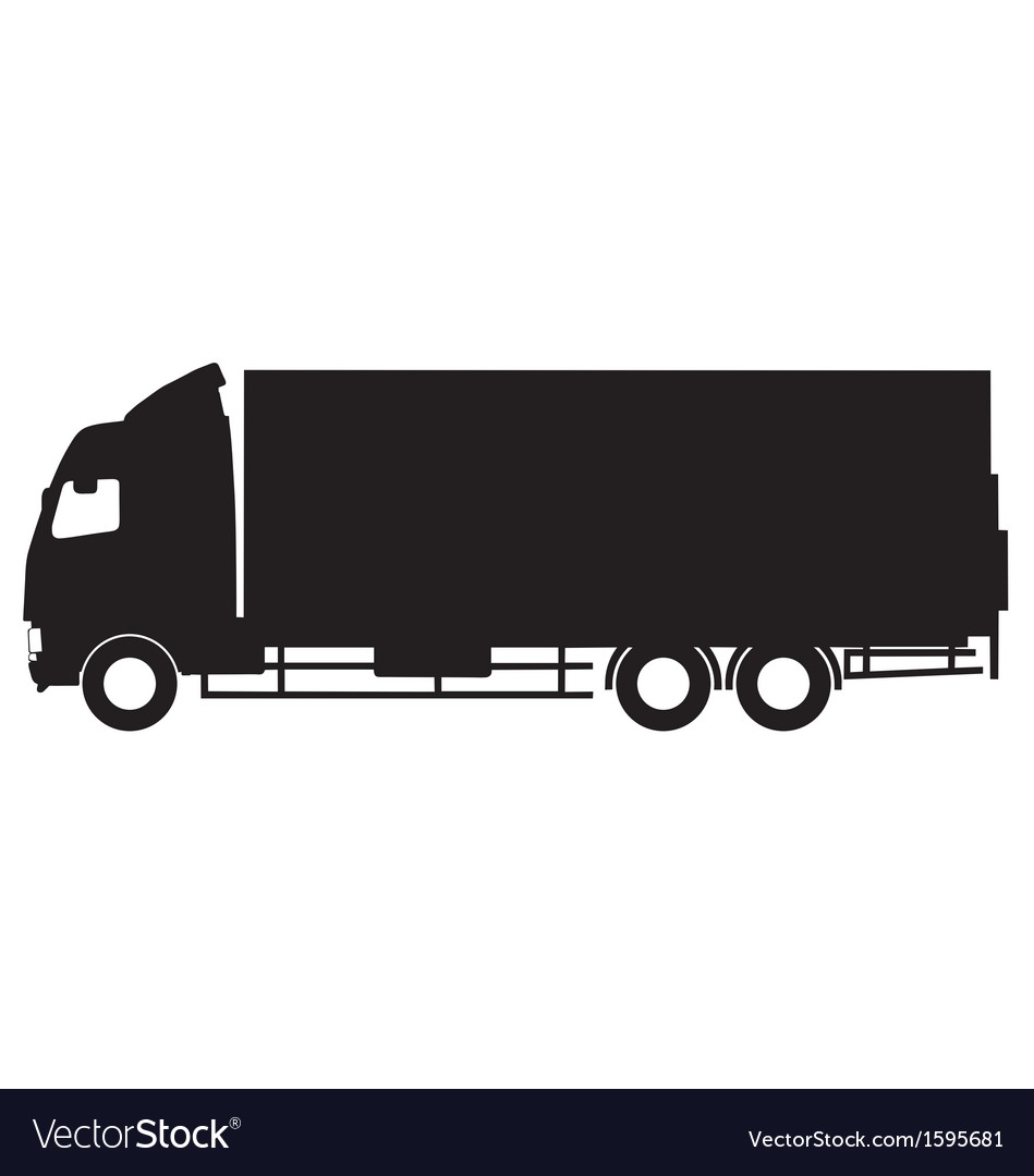 Truck silhouette vector image