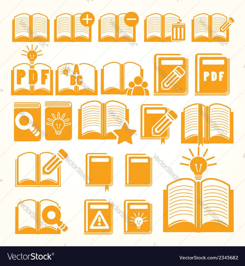 Book set vector image