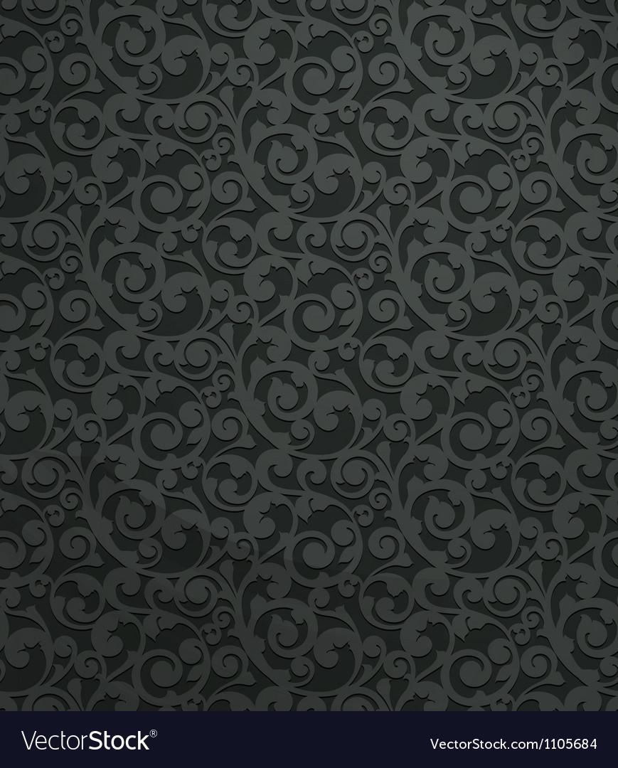 Black vintage seamless pattern vector image