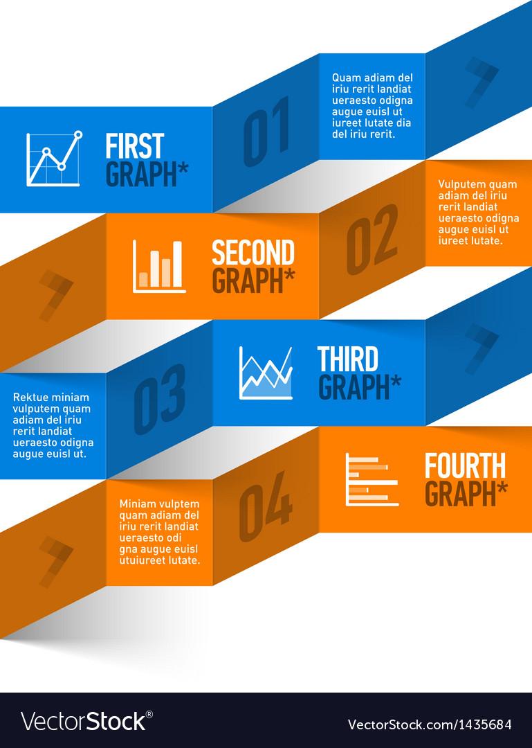 Stock chart theme modern infographics vector image
