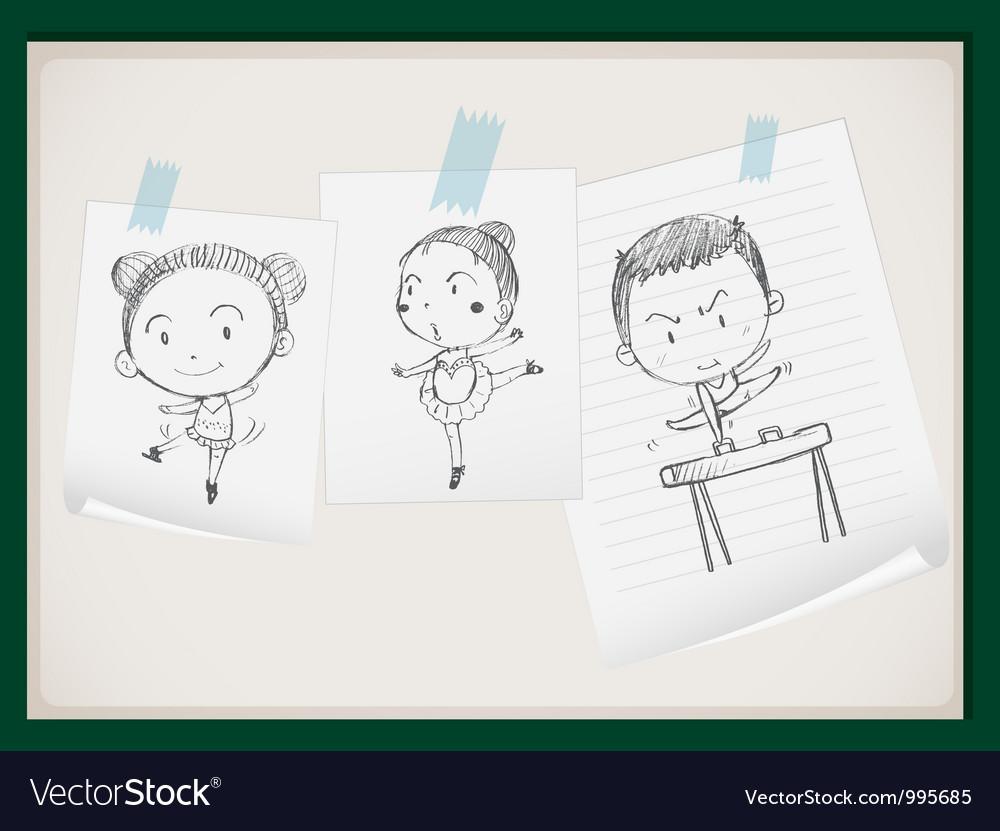 Cute Gymnasts vector image