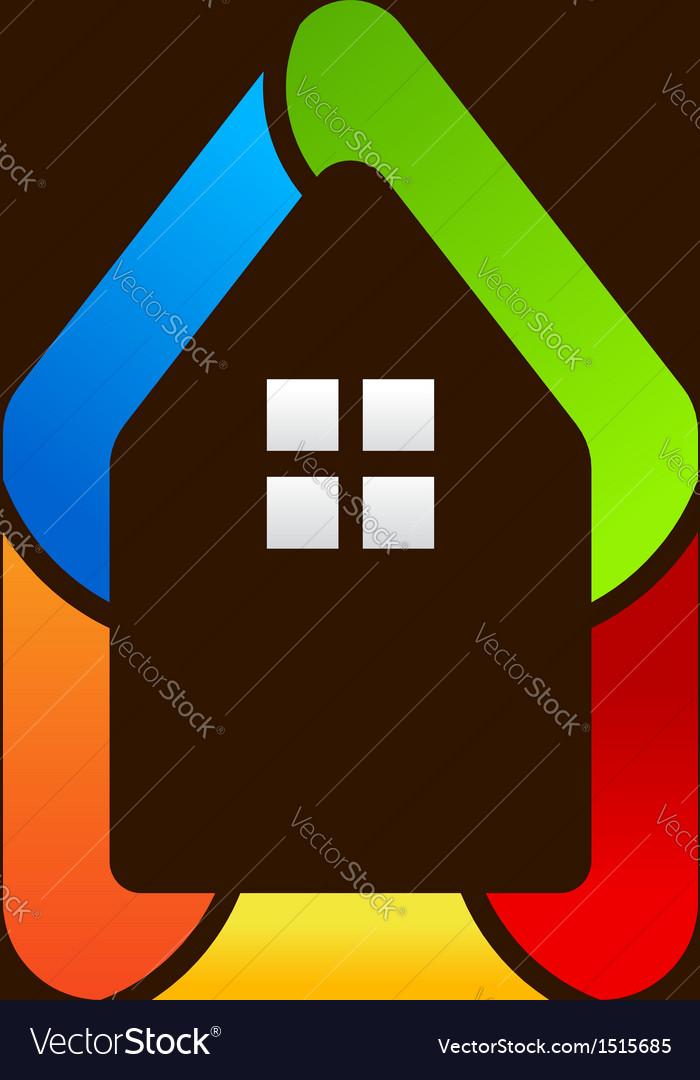 House Icon Style Logo vector image