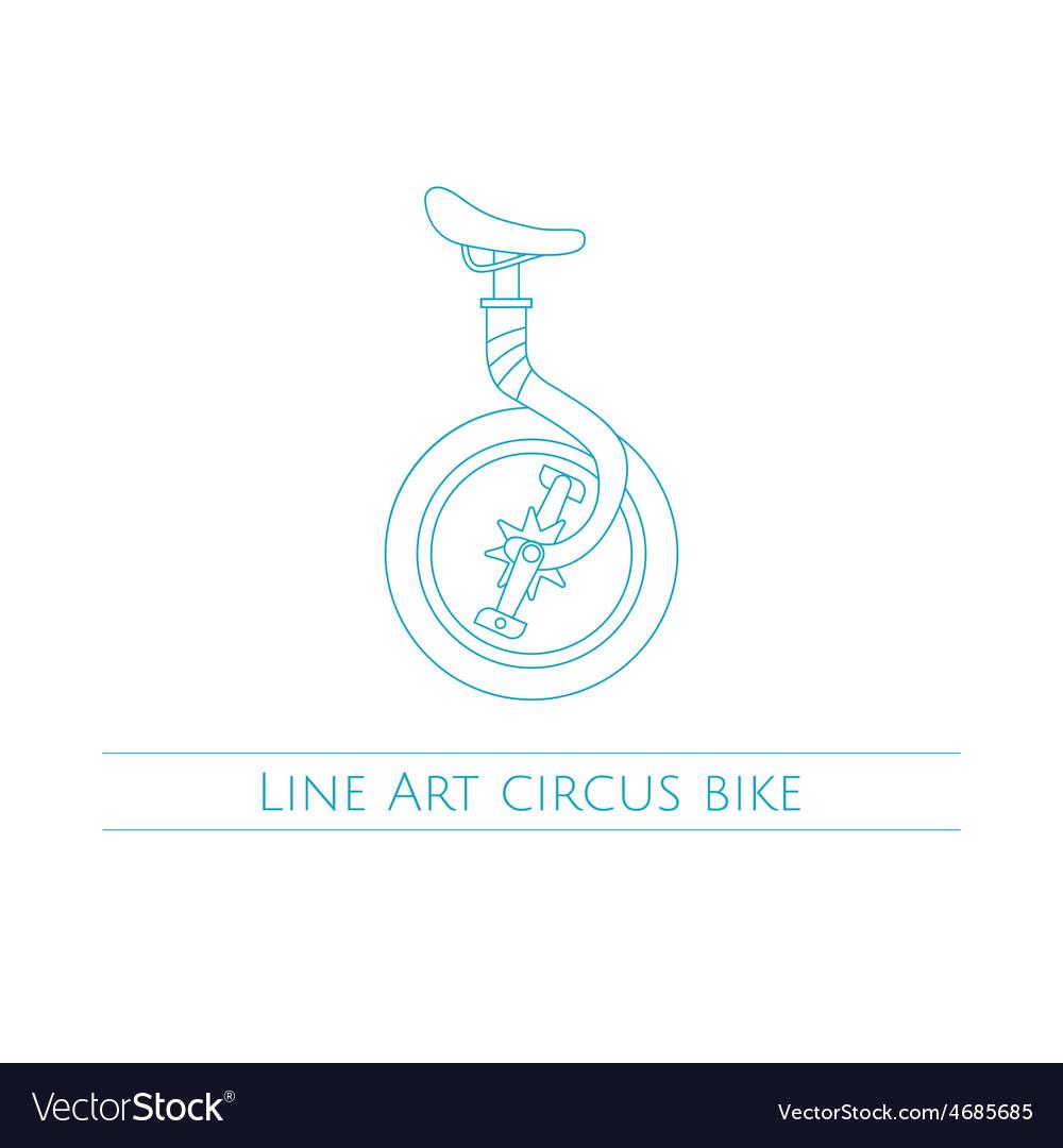 Line Art Circus Bike vector image