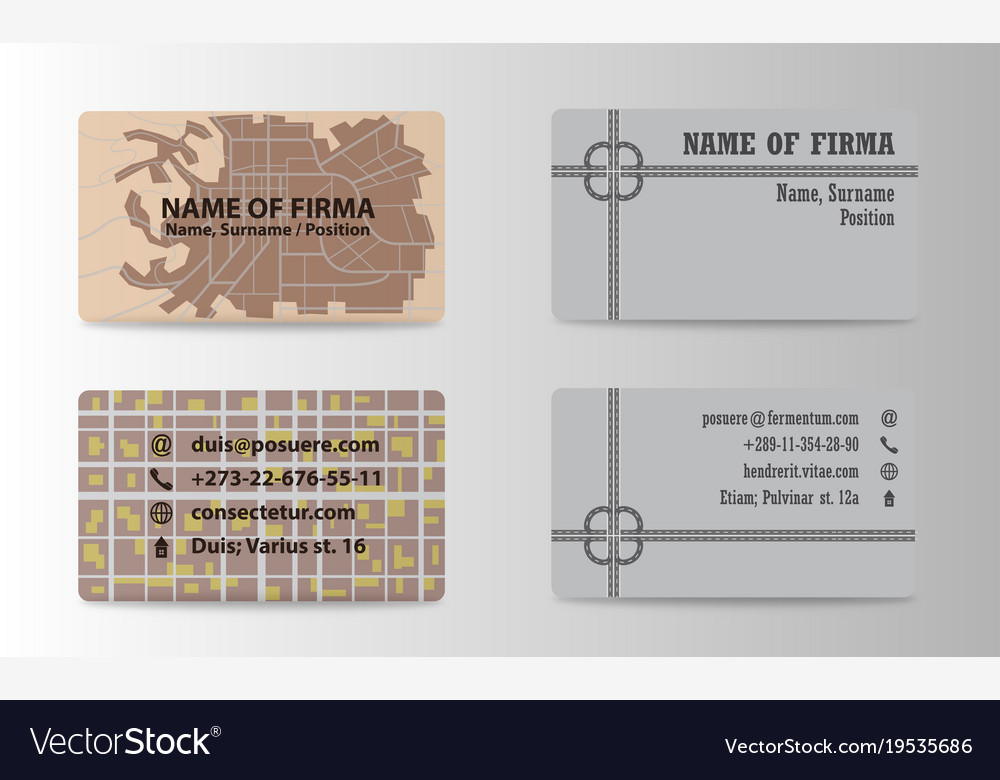 Business card ideas for designers and web design vector image reheart Image collections