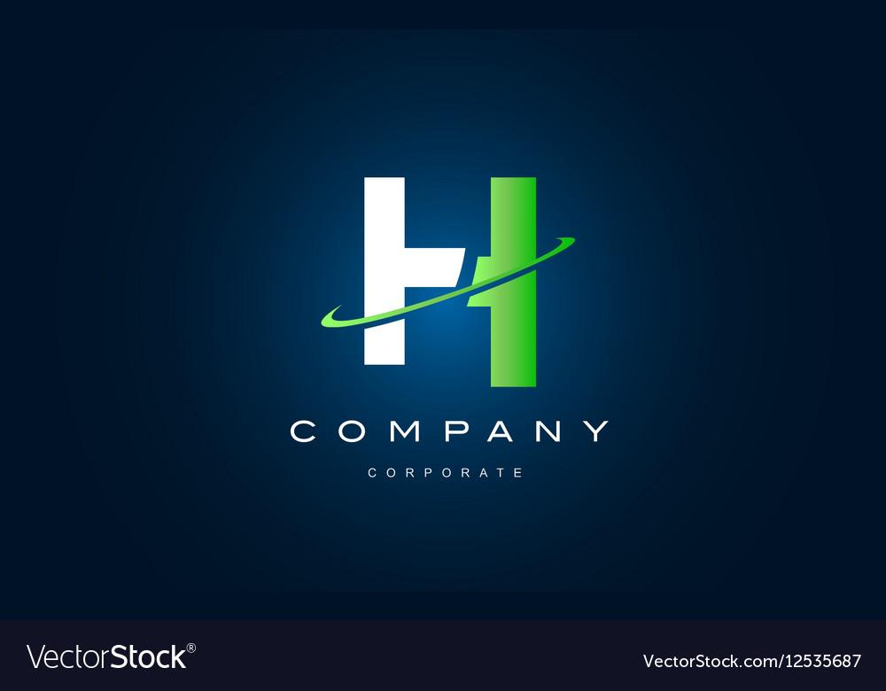 Alphabet letter H logo icon design vector image