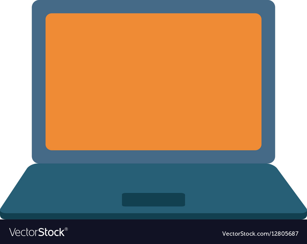 Shopping online laptop digital vector image