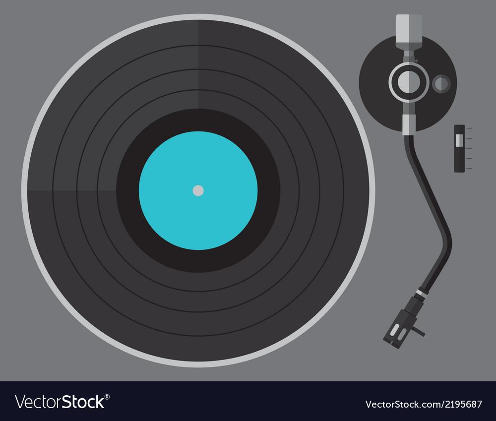 Vinyl turntable flat design vector image